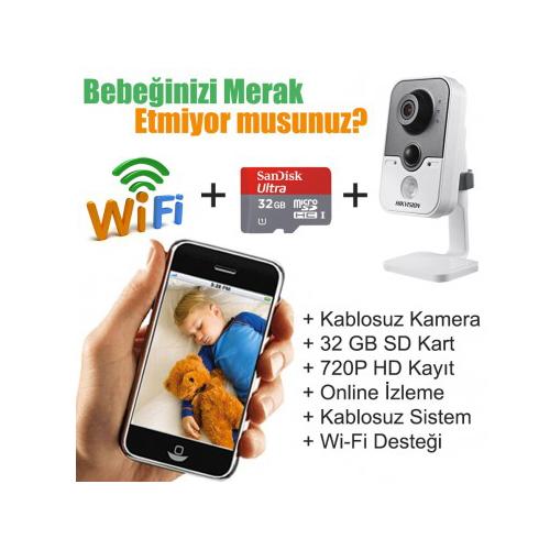 1 Kablosuz Kameralı Pro Bebek İzle Paketi