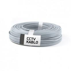 100 Metrelik Top Halinde 2 + 1 CCTV Kablo (0,22 mm)