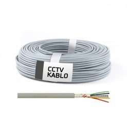 500 Metrelik Top Halinde 4 + 1 CCTV Kablo (0,50 mm) IEC 332-1 Halojen Free