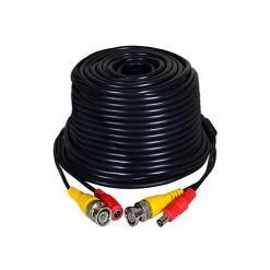 30 Metre Hazır CCTV Kablo Fabrikasyon BNC ve DC Jack Uçlu