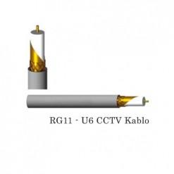500 Metrelik Top Halinde RG11 U6 Koaksiel Kablo